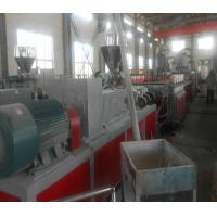 Quality Conical Twin Screw Extruder , Wood Plastic Composite / PVC Extruder for sale