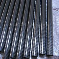Quality Carbon Fiber Tubes with Printing, Logo in Carbon Fiber Tubes for sale