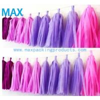 Quality Wedding/birthday/festival party decorations tissue paper tassel garlands for sale