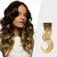 China Professional Black To Blonde Ombre Hair Extensions , No Tang No Mixture Ombre Weft Hair Extensions wholesale