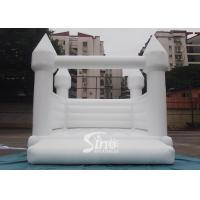 Buy cheap Outdoor 5x4m adults wedding white bouncy castle for wedding parties or events from wholesalers
