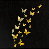 China DIY 3D Modern 20pcs Butterfly Wall Stickers Silver Acrylic Mirror Surface Wall Stick Home wholesale