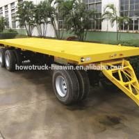 China Customized Size Lowboy Semi Trailer , Larger Capacity Low Bed Truck wholesale