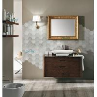 China Wall Mounted Transitional Bathroom Vanities Simple Design For Small Space Bathroom wholesale