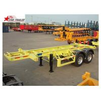 China Leaf Spring Suspension 3 Axle Flatbed Trailer Light Duty 425/65r222.5 Tire wholesale