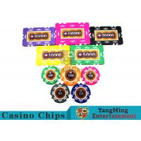 Embedded Feel Casino Poker Chip Set With Environmental Protection Materials for sale