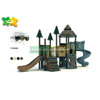 China Powder Coated Funny Wooden Climbing Frame With Swing Aluminum Alloy Post wholesale