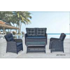 China Aluminium Frame Garden Rattan Sofa Set With Cushion Waterproof 4 Piece wholesale