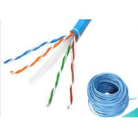 China 4 Pairs Ethernet Lan Cable / CAT6 UTP Cable 1000ft 0.58mm BC Fluke Pass wholesale