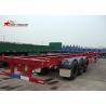 China Startrailer Red Color Gooseneck Skeletal Container Trailer For Truck , Long Life wholesale