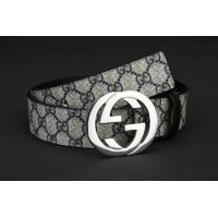 China Hotest 2014 new designer double G buckle blue letter leather fashion male business belts wholesale