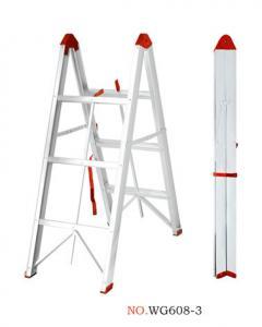 China Non Insulated 2x3 150kg 6063A Aluminium Folding Ladder wholesale