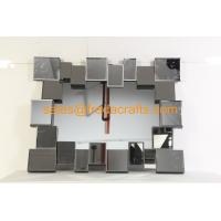 China FR-16724 clear mirror color 3D rectangle shape venetian wall mirror wholesale