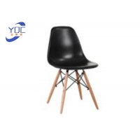 China 82cm height Wooden Leg Dining Chair With PP Material Seat wholesale