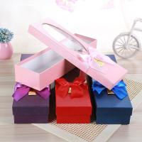 China White Cardboard Luxury Paper Gift Box Flower Packing With Pvc Window wholesale