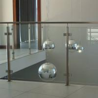 China 304 Stainless Steel Post Tempered Glass Balcony Railing Design wholesale
