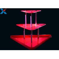 Quality Crystal Clear Acrylic Display Stands 3 Layer Lucite Wedding Wine Stand for sale