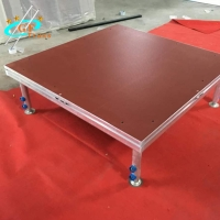 China Alu 6061-T6 Assemble Movable Portable Wooden Platform For Event wholesale