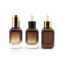 Buy cheap 30ml Amber Square Glass Cosmetic Bottles For Essential Oil Serum from wholesalers