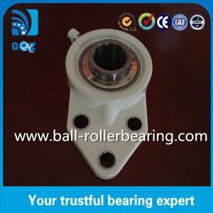 China UCFB205 Three Bolt Pillar Block Bearing With Flange , Pillow Block Linear Bearings wholesale
