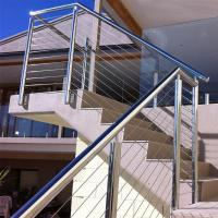 China Outdoor Stainless Steel Wire Balustrade / Railing for Balcony wholesale