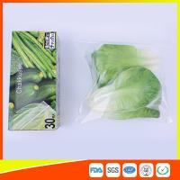 China Resealable LDPE Clear Ziplock Freezer Storage Bags For Vegetable wholesale