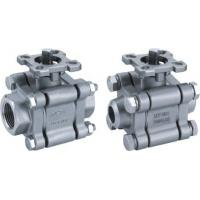 China 3-pc stainless steel ball valve full port 2000wog BSPP NPT ISO-5211 DIRECT MOUNTING PAD wholesale