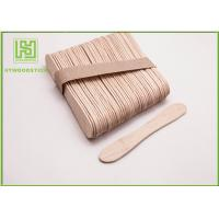 China Disposable Lolly Pop Ice Cream Wooden Sticks , 114mm Natural Wooden Sticks wholesale