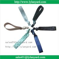 China Fold Over Polyester Customized Elastic Knotted Fabric Hair Tie For Girl wholesale