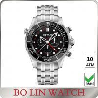 Buy cheap Stainless Steel Case And Back Strap Mens Sporty Watches Bezel PVD Watch Custom from wholesalers