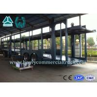 China Double Layer Car Transport Trailers Carbon Steel 2 Axles Car Carrying Trailers wholesale