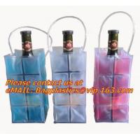 China Promotional PVC cooler bag for wine, Custom Refillable Travel Plastic Pvc Bottle Ice Tote Red Wine Cooler Bag As Gift Wh wholesale