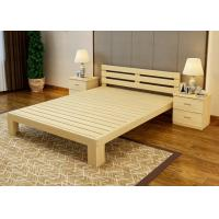 China Economic Family Oak Double Bed Frame , Solid Cherry Full Size Wood Bed Frame wholesale