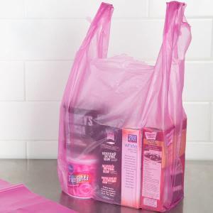 China Durable T Shirt Plastic Bags , Custom Printed T Shirt Bags HDPE Material wholesale