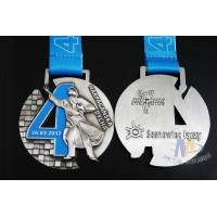 China Singing Riding Marathon Custom Sports Medals Cut Out Design 3D effect With Sublimated Ribbon wholesale