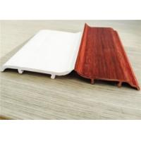 China Decorative White PVC Skirting Board 10CM Height Hot Stamping Finish wholesale