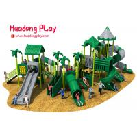 China Commercial Funny Happy Outdoor Playground Slides , Big Outdoor Playground Toys wholesale
