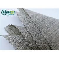 China Soft Woven Wool Light Hair Bow Interlining Canvas Fabric For Garment Overcoat wholesale