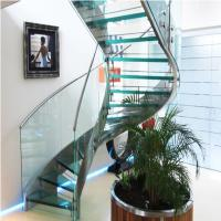 China High Quality Indoor / Outdoor Stair Steps Lowes for Carbon Steel Curved Staircase with Open Riser Steps wholesale