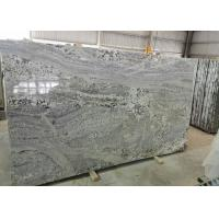 Buy cheap Polished Bookmatched Stone Slabs, Hard White Grey Polished Granite Slabs from wholesalers