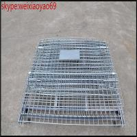 China Hot-dipped galvanized storage  cage /wire mesh container cage/folding security  cage/pallet cage/metal bin/steel storage on sale