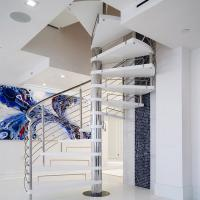 China Stainless Steel Spiarl Staircase Custom Delicate Spiarl Staircase Design Internal Safe Spiral Staircase wholesale