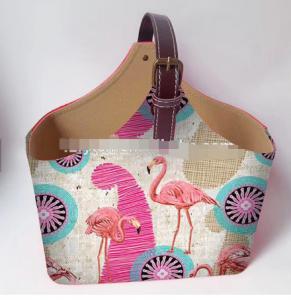 China Store decor printed flamingo paper board vintage stackable basket display basket decorative picnic fruit storage Basket on sale