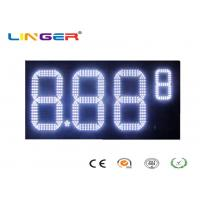 China Outdoor White Color Roadside Gas Station Led Price Sign With CE / RoHS Approved wholesale