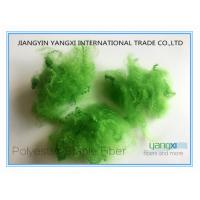 China Verde Pino Spun Dyed PSF Polyester Staple Fiber 1.5 Denier For Spinning wholesale