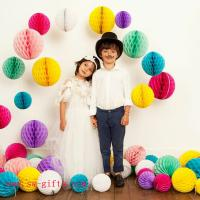 Quality Party Wedding Decoration Paper Craft Tissue Paper Honeycomb Balls Pom Pom Flower Ball for sale