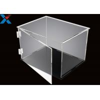 Quality Rectangle Acrylic Display Box Open Door Assembled Clear Dust Storage Box for sale