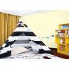 China Lovely Dreamlike Bear Childrens Bedroom Wallpaper Embossed 0.53*10m wholesale