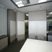 China Fire Resistant Office Plywood Partition Wall / Sliding Room Dividers wholesale