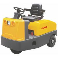 China Battery Operated  4 Wheel Platform Truck , Airport Tow Tractor High Range Steering Design wholesale